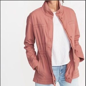 Old Navy Dusty Rose ZIP Up Military Style Jackey